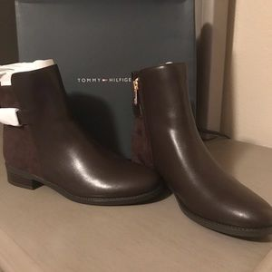Tommy Hilfiger Brown Leather Boots